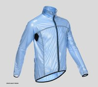 куртки для велоспорта водонепроницаемые оптовых-Wholesale-Lightweight waterproof raincoat breathable wicking windproof breathable bike rain jacket man cycle Ropa Maillot