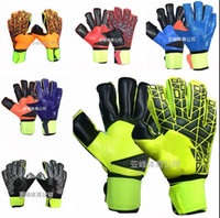 Wholesale Top Quality Gloves - Brand AD Logo Professional Soccer Goalkeeper Gloves New Best quality Finger Ptotection Top Latex football Goalie Gloves for Men 5MM Latex