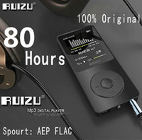 Wholesale card voice recorder - 100% Original RUIZU X02 MP3 Player With 1.8 Inch Screen Can Play 100 hours, 8gb With FM,E-Book,Clock,Data