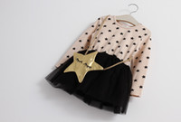 Wholesale Tutu Bags Sale - 2 -7 years pentagram bag girls fashion dress 2015 Candy colors autumn princess party stage dress factory direct sale 5pcs A21