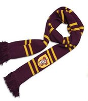 Wholesale Warm Soft Knitted Scarf - Fashion Harry Potter Gryffindor Scarf Children's Over Sized Thicken Wool Knit Scarf Wrap Soft Cozy Warm Costume M256
