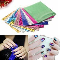 Wholesale Symphony Transfer Foil Nail Sticker - Wholesale 10Pcs Mix Designs Symphony Nail Sticker Transfer Foil Paper For DIY Nails Art Decoration Beauty Tools Free Shipping