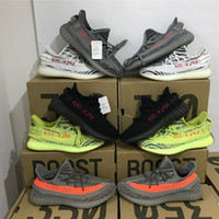 Wholesale Outdoor Boot Box - With Box Wholesale Orange Grey Beluga 2.0 Running Shoes Boost 350 V2 SPLY-350 STEGRY BELUGA SOLRED Primenkit Sneakers Boosts Boots