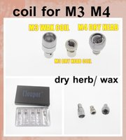 Wholesale Dry Herb Atomizer Wax Coil - 2015 new product Cloupor atomizer coil head Cloutank Series M4 M3 M2 cartomizer for Dry Herb   Wax Core head Replacement Coil FJ030