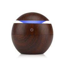 Wholesale Humidifier Types - Mini Wooden Air Humidifiers Aromatherapy Ultrasonic Humidifier Oil Aroma Diffuser Usb Purifier Color Changing Led Touch Switch