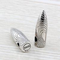 collar de plata bala colgante al por mayor-MIC .20 unids / lote Bala antigua de plata Encantos Colgante Fit Collar Colgante de Los Hombres Joyería 8.2 x8.5X28 MM