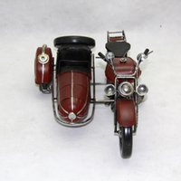 Wholesale Toys Tricycle - Tinplate Military Motorcycle Model, Hand-made Motor Tricycle Toy, Furniture Decoration, Work of Art , Personalized for Gift, Collecting