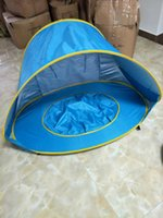 Wholesale baby swim car resale online - Baby Swimming Tent Sandy Beach Outdoor Waterproof Children Swimming Pool Tent House Folding Tent cm SC062