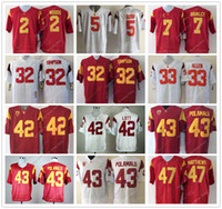 Wholesale College Yellow - College USC Trojans Jersey Woods Reggie Bush Matt Barkley O.J Simpson Marcus Allen Ronnie Lott Troy Polamalu Clay Matthews Jersey Home Away