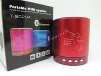Wholesale Disk T - Mini audio player Portable card speaker music player T2020A support TF card U disk FM radio T-2020 Retail package