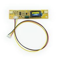 tft lcd ekran modülü toptan satış-2 Lambalar Arka Evrensel Laptop LCD CCFL Invertör Kurulu için 17-22