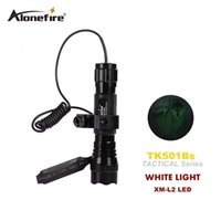 interruptor l2 venda por atacado-Tactical Lanterna 501B 2200Lm XM-L2 LED Interruptor de Pressão Da Tocha Lanterna de Luz Pistola de Montagem