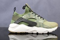 Wholesale Camouflage Kids Shoes - Air Huaraches Premium Camouflage sports shoes Trainers Sneakers 2018 kids new original fashion Huarache runnning shoes