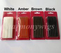 Wholesale Hot Hair Gun - Fusion keratin glue sticks 7mmx100mm for Glue gun 4colors hair extension tools for clip hair extensions hot sale