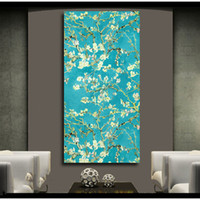 Wholesale canvas art oil painting blossom resale online - 1 Blossoming Almond Print Wall Art Decor Oil Painting on Canvas Wall Painting Picture for Living Room Posters Prints No Frame
