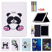 "Wholesale Ipad Mini Case Animal Print - Panda Pattern PU Leather Flip Case For Apple iPad mini 4 iPad 2 3 4 iPad Pro 9.7 2017 10.5"" Case Cover With Card Slot"