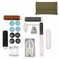 Wholesale Thread For Sewing Bags - Outdoor Needlework Bag Needle + Thread + Foldable Scissors + Buttons + Pin + Thimble Sewing Kit for Outdoor Use Military Tactical 10pcs