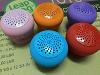 Wholesale Iphone Silicon Speaker - New Arrival Bluetooth Mini Speaker Wireless Mushroom Waterproof Silicon Suction Cup Handfree Holder for Iphone samsung ipad with retail box