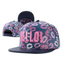 Wholesale Snapback Hello - 3 color Hip Hop Hello Snapback Baseball PU Caps Unisex Sports Adjustable Bone Women Leather Hats Men gorras Caps Casual F1102