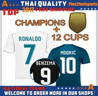 Wholesale Football Jeresys - 2017 Champions League Fans Version Soccer Jersey 17 18 Real Madrid Home Away 3rd Soccer Jerseys 17 18 Ronaldo ASENSIO Football Jeresys
