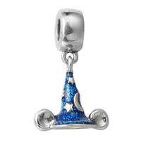 Wholesale pandora mickey resale online - Mickey Sorcerer s Hat Silver Dangle Blue Enamel Sterling Silver Beads Fit Pandora Charms Bracelet Authentic DIY Fashion Jewelry