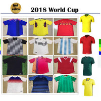 Maglia da calcio 2018 World Cup Russia Argentina Colombia Irlanda Spagna Inghilterra Germania Portogallo Francia Away Custom Football Shirt