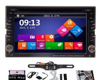 Wholesale Rear View Window - 2 din 6.2'' Touch Car Auto DVD GPS Navigation player Stereo Radio GPS Bluetooth tv USB SD DVD universal Player iPod RDS+car rear view Camera