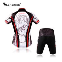 Wholesale Dragon Cycle Set - Wholesale-Dragon Print Short-sleeve Jersey + ShortsTight Breathable Mountain Bike Roupas Men Fitness Clothing Bicycle Cycling Jersey Sets