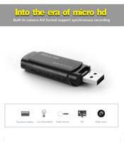 Wholesale Usb Ir Cameras - New U838 Mini USB Disk HD DVR Camera Motion Detector Camcorder Video Recorder 1080P voice recorder digital cam with IR night vision