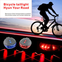 Wholesale Laser Aperture Lights - Safety warning lamp for night bicycle LED strong light 2*Aperture of laser warning line 2 Modes of transformation.