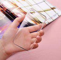 ingrosso plastica dura trasparente-Cover in plastica trasparente rigida trasparente per PC per 6s 6plus 5 5s SE 5c 4 4s Samsung S7 S6