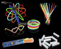 Wholesale Cheap Glowing Toys - Wholesale-100pcs lot Wholesale Cheap Light Stick Glow Bracelet Party celebration glow in the dark Stick fluorescence stick Bracelet Toy