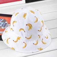 Wholesale Banana Bob - Wholesale-2015 Time-limited New Gorro Bob Bucket Hat Lovely Banana Fisherman Hat Shading Design Candy Color Dome Tourism Bucket [gen-185]