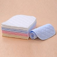 Wholesale Ecological Baby Cloth - wholesale 10PC 3 layer ecological cotton reusable diapers washable baby cloth diaper micro infant nappy changing napkins VT0016 salebags