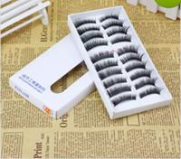 Wholesale Cheap Eye Lashes - 10 Pair set New Lady Girl Fashion Natural Handmade Make Up Long False Eyelashes Women Handmade cheap False Eye lash