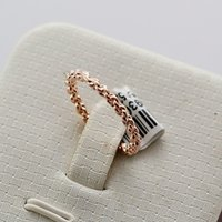 Wholesale italina jewelry brand resale online - Italina Rigant Brand Zinc Alloy Jewelry Band Rings Rose Gold Plated Simple Designed Woven Style Rings