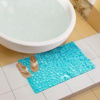 массажная ванна оптовых-Wholesale- 42x72CM Blue PVC Bath Mat Non-Slip Sucker Cup Massage Shower Mats Bathroom Carpet Rug Child Baby Bath Pad