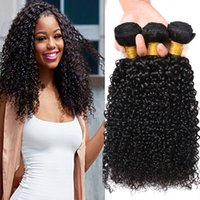 Wholesale brazilian jerry curl hair weave for sale - Group buy Brazilian Curly Human Hair Weaves Bundles Unprocessed A Peruvian Malaysian Indian Cambodian Mongolian Jerry Kinky Curls Hair Extensions