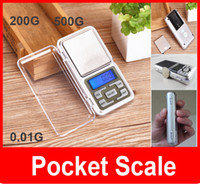 Wholesale Weight Scale Oz - wholesale Mini jewelry pocket LCD Digital Scale Electronic Scale Weight Scale backlight 200G 500G 0.01G g tl oz ct