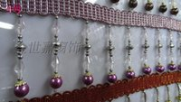 Wholesale Crystal Beaded Curtains Wholesale - Wholesale-High-end curtain lace   accessories accessories   crystal beads   beaded pendant   diamond long long little pearl beads