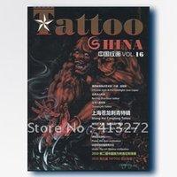 Wholesale Magazine Design Tattoo - Wholesale-China's grain painting 16 period latest tattoo manuscript magazine tattoo design book set artist necessary tools