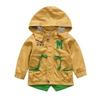 Wholesale Children Clothes Design For Boys - 2015 Latest Design Children Clothing Fashion Boys Coat With Hat Wind Coat For Kids Free Shipping Baby Windbreaker