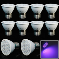 Wholesale Led Ufo Grow E27 - 10pcs lotNew hydroponics lighting AC85-265V 3W E27 RED BLUE SMD 36 LED Hydroponic LED Plant Grow Lights Free Shiping