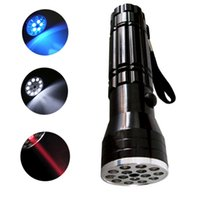 Wholesale Ultrafire Uv - S5Q 3 in 1 UV LASER Ultraviolet Flashlight Light Lamp Torch 15 LED for Camping AAAAQE