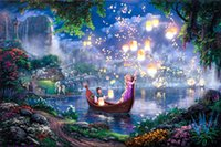 Wholesale Kinkade Tangled Giclee Art Print On Canvas no frame