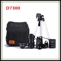Wholesale Lighting Sd Card - POLO D7300Digital camera HD1080P 3.0LCD 24 times optical zoom 33 million pixels, 3 mode complementary light,Three foot frame Free D