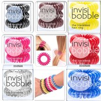 Wholesale Telephone Fashion Hair - Telephone Line Gum For Girl Rope candy color fashion Tie Hair Accessory Maker Tools 10pcs new