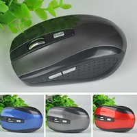 Wholesale Cordless Mouse Usb - Wholesale 2.4GHz USB Optical Wireless Mouse USB Receiver Mice Cordless Game Computer PC Laptop Desktop 3 Colors New