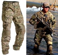 paintball jersey - Tactical army GEN Battle Pants BDU combat trousers multicam with Detachable Knee Pads for paintball Airsoft