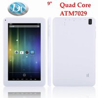 Wholesale Android Tablet Hdmi 8gb - 50PCS 9 inch Android 4.4 Quad Core ATM 7029 A33 Q88 Tablet PC 512MB DDR3 8GB ROM OTG with HDMI Dual Camera with Flashlight Tablet PC wifi